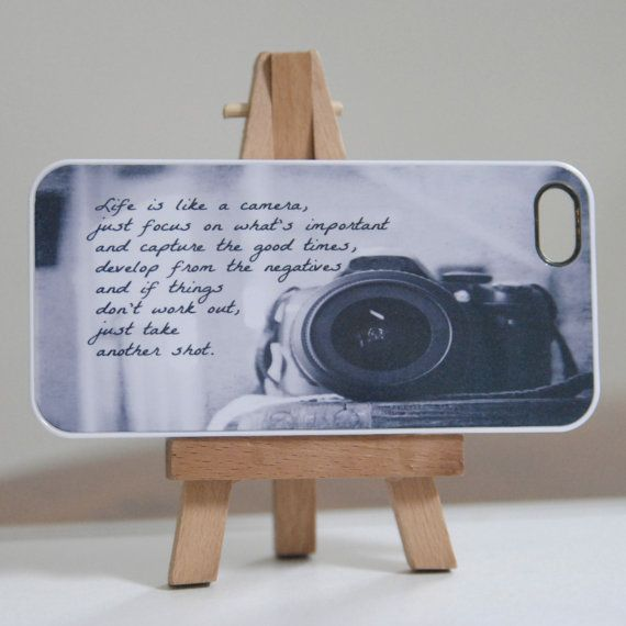 Life is Like a Camera Quote Iphone 5 Case Photography Quote Black White Phone Cover Accessory Photographer Gift on Etsy, $35.00