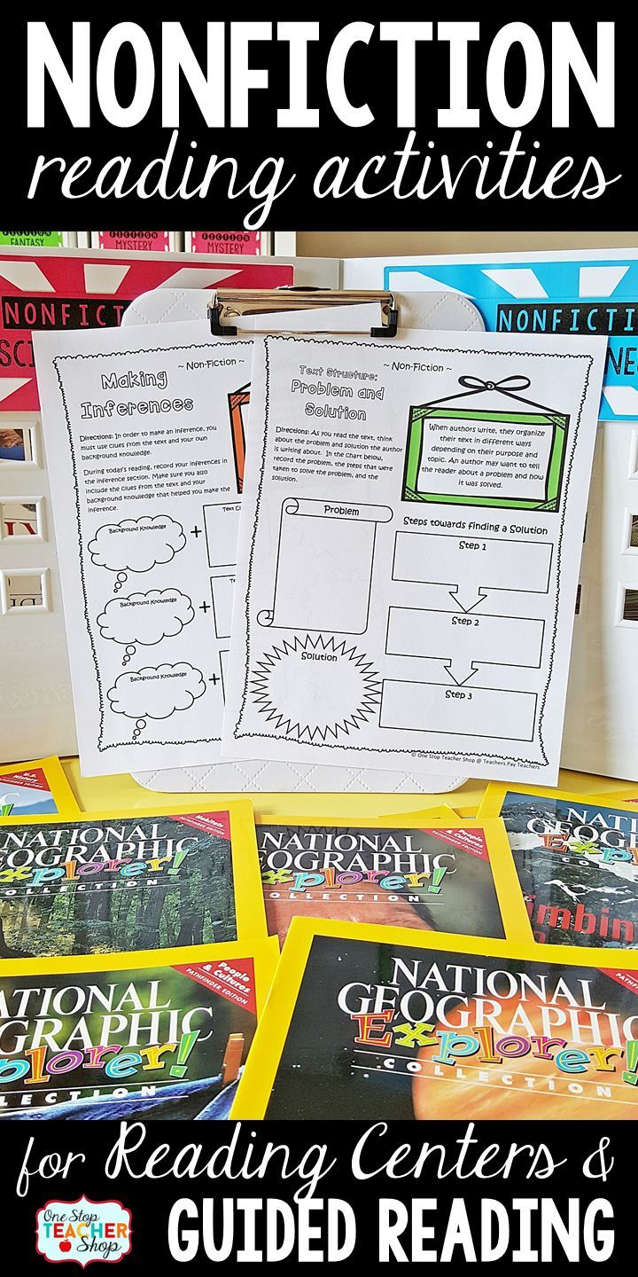 Nonfiction activities to reinforce reading comprehension skills. Perfect for reading centers and guided reading. More than a graphic organizer and No-Prep!