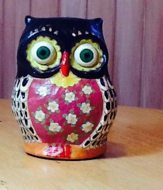 B ho en papel mache creaciones abisluz pinterest for Diy paper mache owl