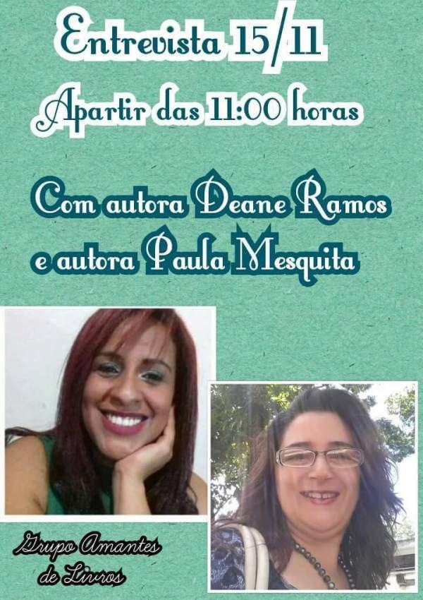 Eu e a autora Deane Ramos estaremos nesse feriado, dia 15/11/2016, no Grupo Amantes de Livros, às 11h, dando abertura à PrimeiraGincana do Amantes de Livros que acontecerá de15 de novembro à 21 d…