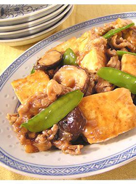 豆腐のオイスターソースの煮込み