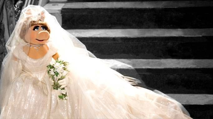 Miss Piggy Wearing A Vivienne Westwood Couture Wedding Dress #muppets