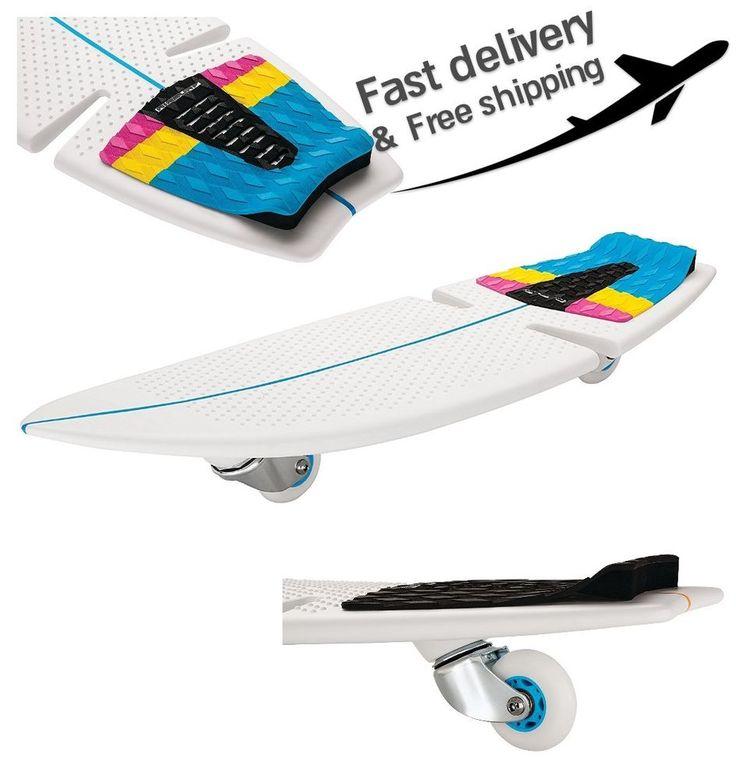 Razor Rip Surf Patented Caster Board Ripstick Water Sport Skateboard White #Razor