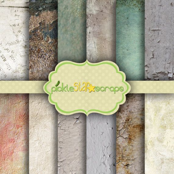 ON SALE Craft Papers 12x12 Wall Papers Brick by PickleStarScraps