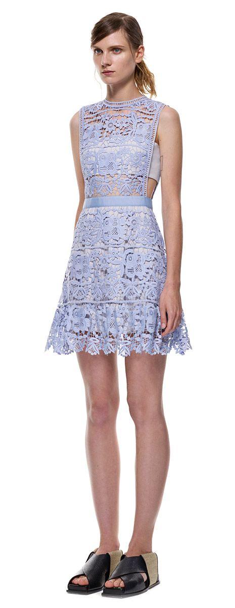 self-portrait: lace peplum mini dress