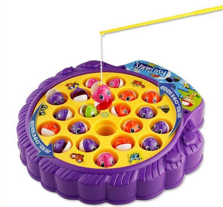 Haktoys Premium Quality Fishing Game with Rotating Fish Pool and Music Kids Fun #Haktoys