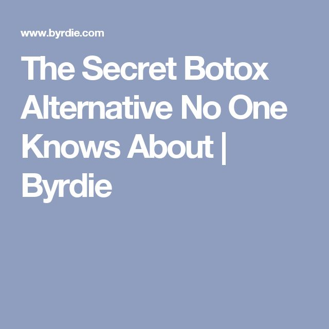 The Secret Botox Alternative No One Knows About | Byrdie