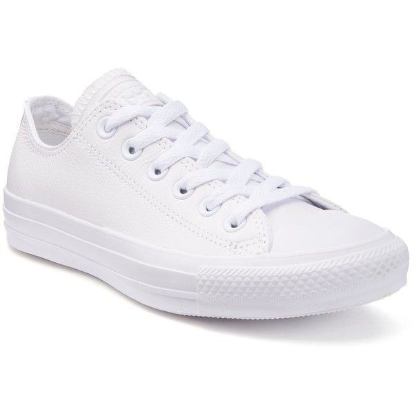 Adult Converse Chuck Taylor All Star Leather Sneakers ($65) ❤ liked on  Polyvore featuring