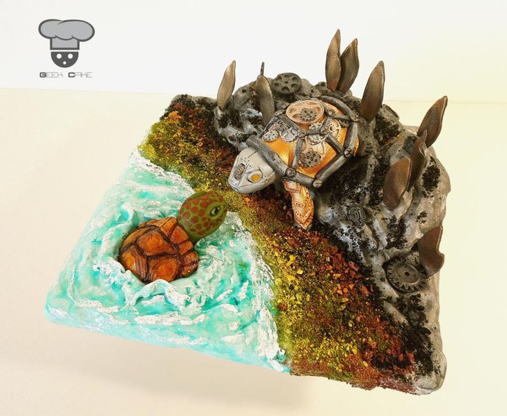 Steam Cakes - Steampunk Collaboration - Cake by Geek Cake