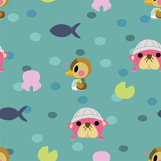 animal crossing cute art Animal Crossing Water Pattern