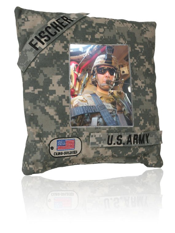 What a great pillow!  (Pocket in back for love letters, pictures or what every you want to keep in there) - MilitaryAvenue.com