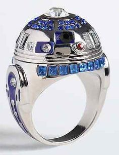 for that princess leia in your life - R2d2 Wedding Ring