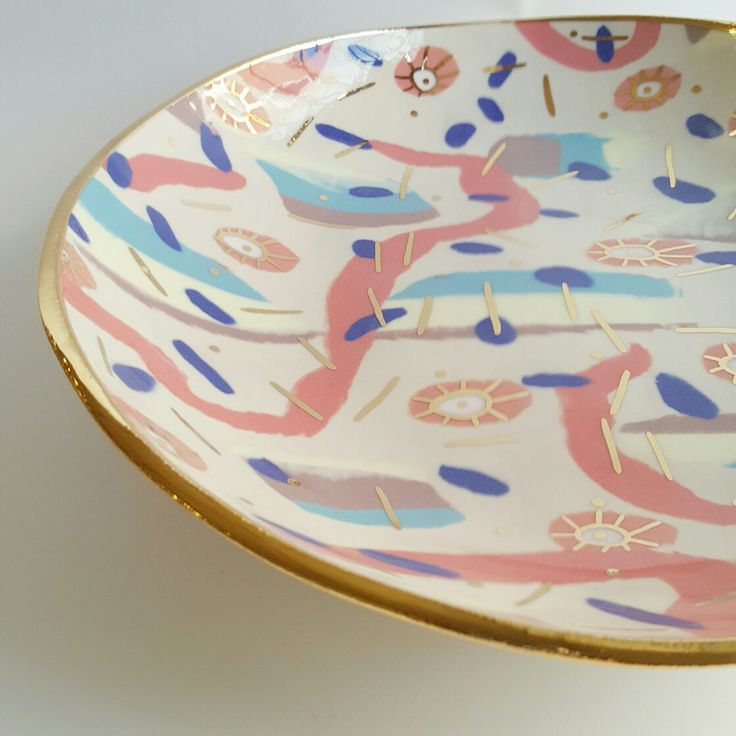 Beautiful one off porcelain bowl by Ruby Pilven