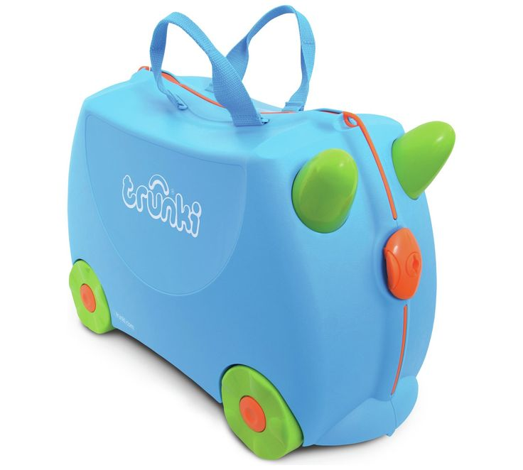 Buy Trunki Terrance Ride-On Suitcase - Blue at Argos.co.uk, visit Argos.co.uk to shop online for Childrens luggage, Bags, luggage and travel, Sports and leisure