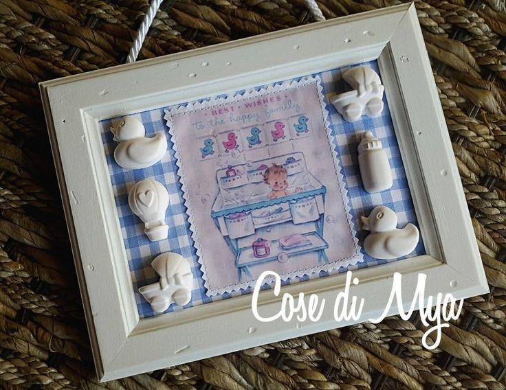 """Quadretto nascita """"Nursery"""", by COSE DI MYA, 25,00 € su misshobby.com"""