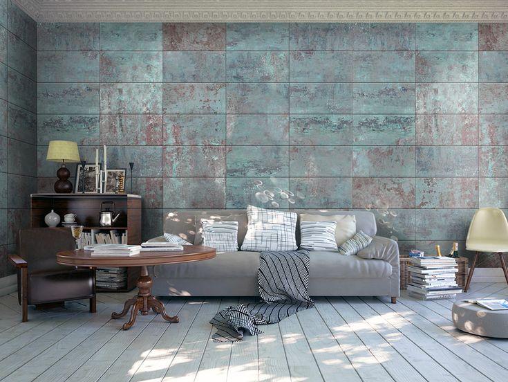 Tapeta - Turquoise Concrete #roomdecor #home #wallart #inspirace #waterproof #design #wow #original #matná