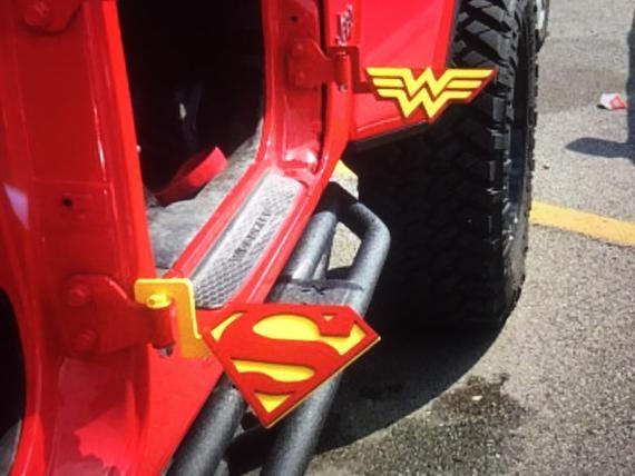 Custom Jeep Foot Pegs 3 Dimensional Wonder Woman Custom Jeep Jeep Wonder Woman