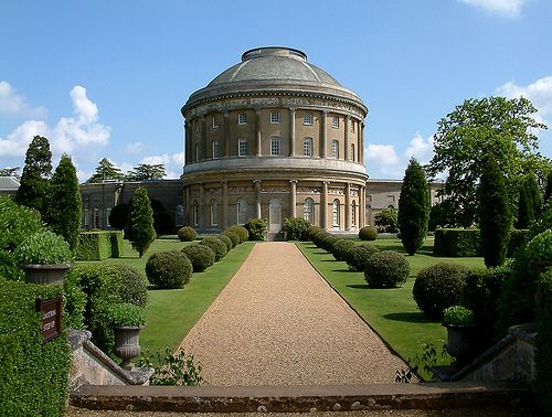 The gardens of Ickworth, an elegant 18th-century house and hotel located near Bury St. Edmunds. It is a sensitively-restored Georgian mansion that is open to the public. Built by Frederick Augustus Hervey, 4th Earl of Bristol, the house is dominated by a huge rotunda, based on the Pantheon in Rome.