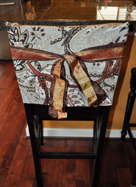 No Sew Barstool Chairback Cover. I was able to get 2 roman shades and 3 & 9 best Need to find/sew something to protect the wooden bar stools ... islam-shia.org