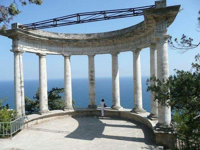 "The Rotunda at Oreanda looking to the Black Sea. ""AL"""