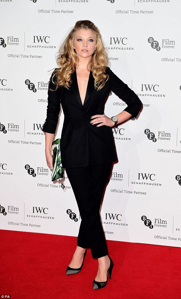 Natalie Dormer opted to sport a different look to her peers at the IWC gala dinner in London