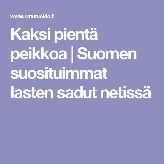Kaksi pientä peikkoa | Suomen suosituimmat lasten sadut netissä