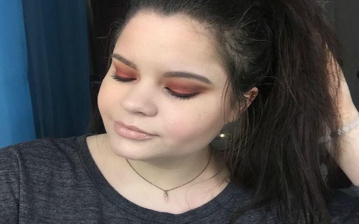 Morphe 350 / Burnt Orange eyes makeup tutorial - YouTube