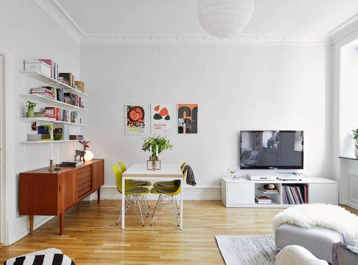 Pequeño salón de aires daneses mid-century modern - Blog decoración estilo nórdico - delikatissen