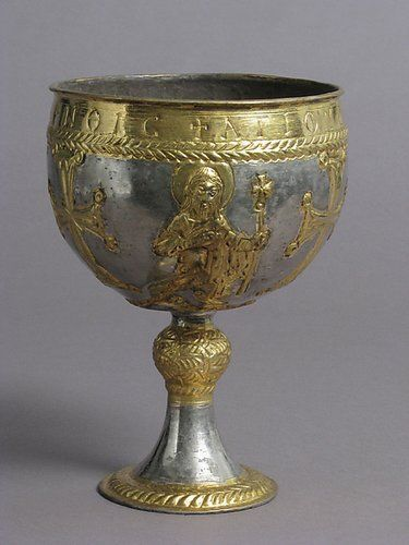 A silver-gilt chalice from Attarouthi, Syria, late sixth–early seventh century, Metropolitan Museum of Art
