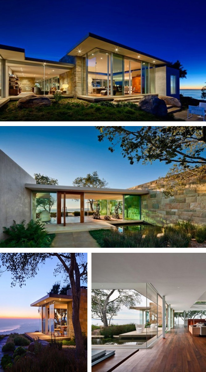 Carpinteria Foothills Residence is a contemporary hillside residence designed by Neumann Mendro Andrulaitis Architects. California