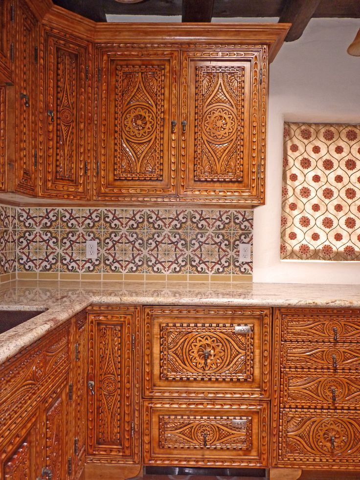 584 best images about santa fe home on pinterest for Southwest style kitchen cabinets