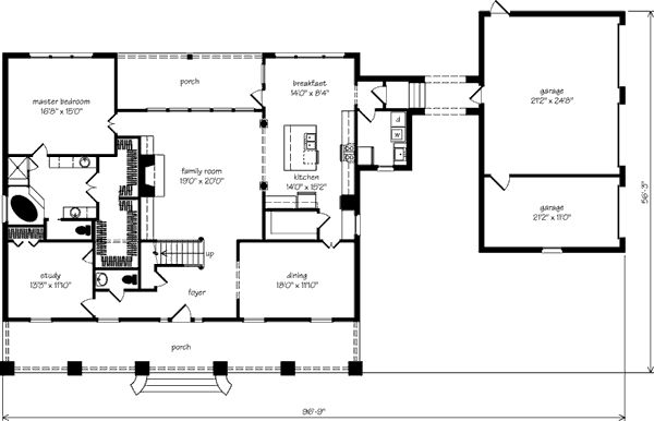 Natalbany way andy mcdonald design group southern for Garage office plans