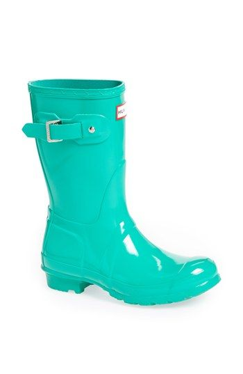 How about some Parrot rain boots? Hunter 'Original Short' Gloss Rain Boot (Women) available at #Nordstrom