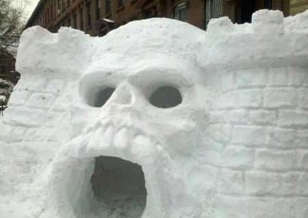 5.) This igloo is a little scary - it is modeled after the Castle of Grayskull.