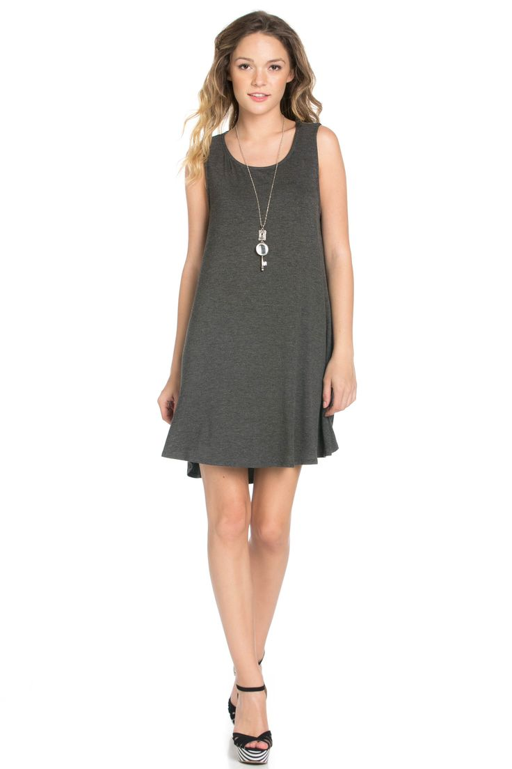 The Charcoal Swing Dress