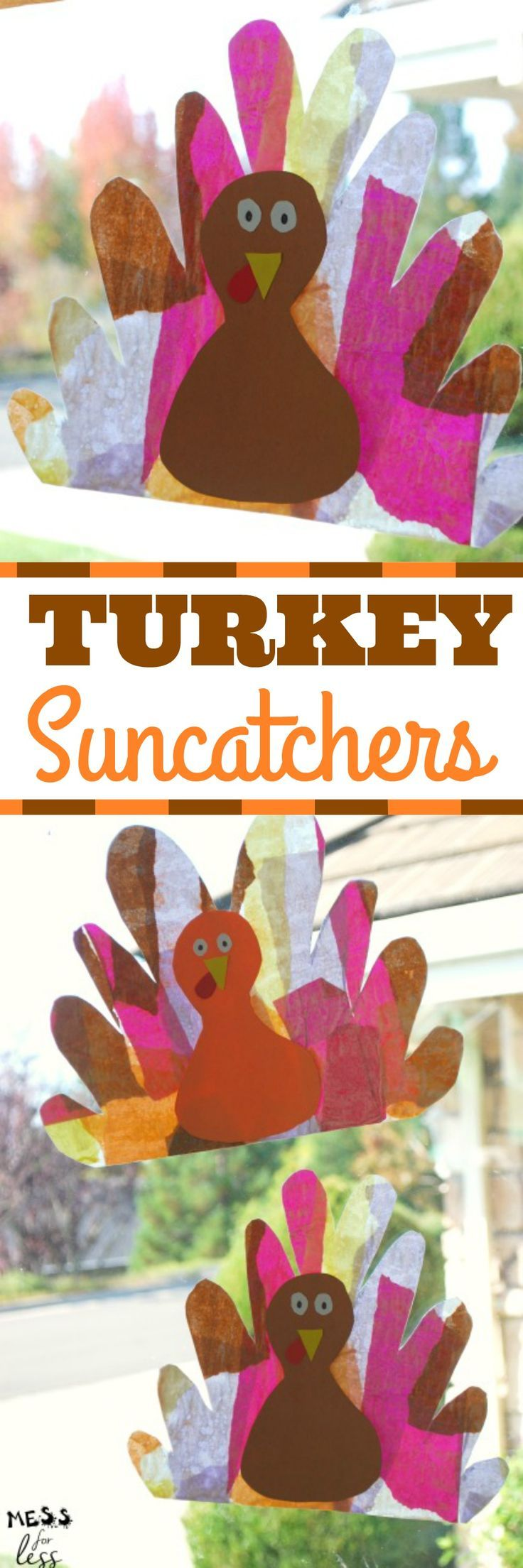 Turkey Suncatcher Craft hang them in