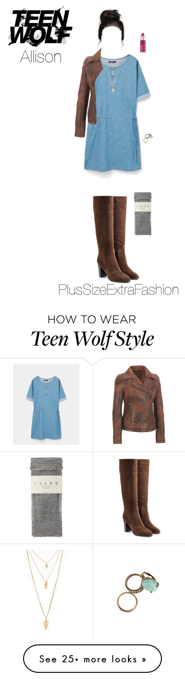 """""""Allison Inspired Plus Size Spring Outfit"""" by plussizeextrafashion on Polyvore featuring MANGO, Sergio Rossi, Forever 21, Rossetto, Falke, TeenWolf, plussize, Allison, spring2016 and plussizeextrafashion"""