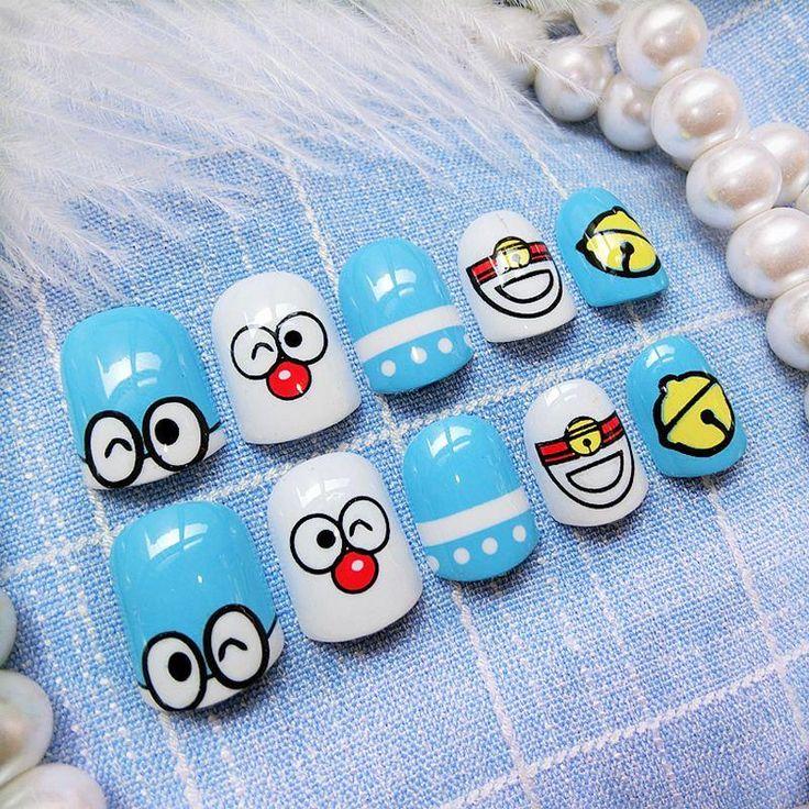 Doraemon Artificial Nails