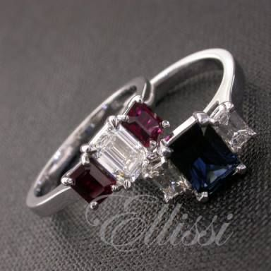 Putting a bit of colour in your life can be a good thing but is hard to do with emerald cut rubies and sapphires ... this particular cut is just not very easy to get - but looks fantastic, don't you think? #engagement #jewellery #wedding #melbourne #ellissi