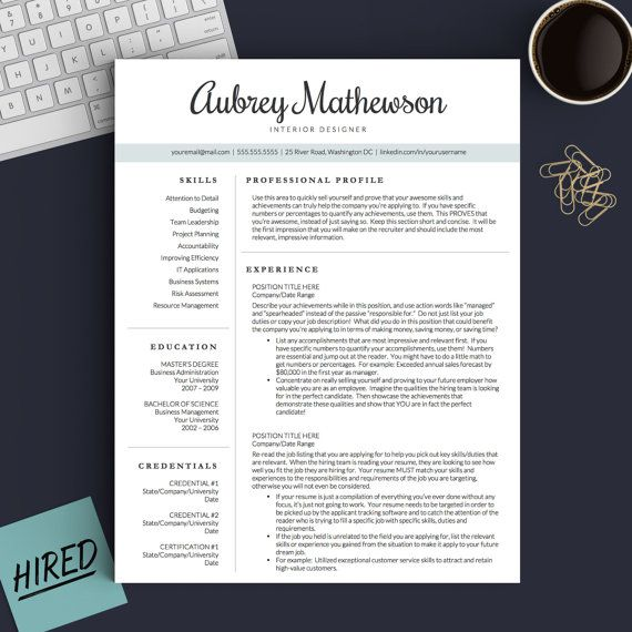 Best Modern Resume Templates Images On   Professional