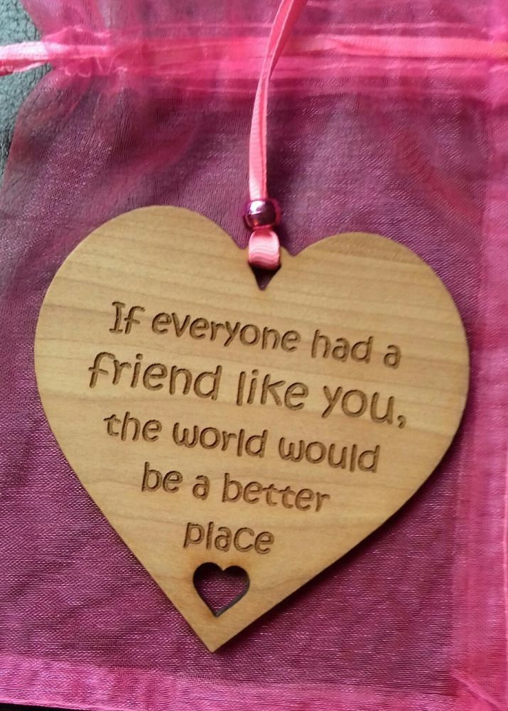 FRIEND Gift Plaque FRIEND LIKE YOU Friendship Wood Laser Engraved Shabby Chic