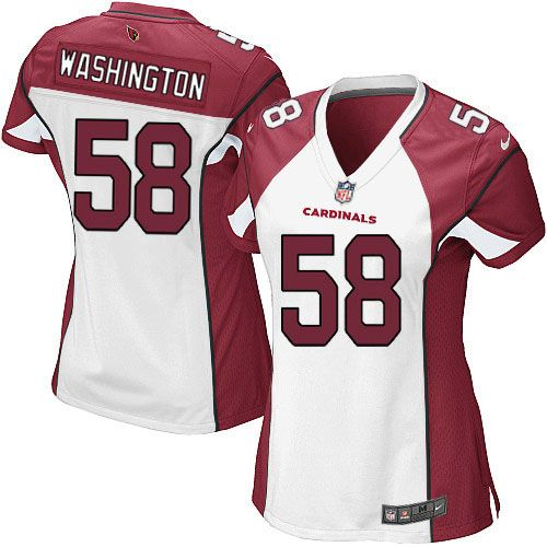 Women Nike Arizona Cardinals #58 Daryl Washington Game White NFL Jersey Sale