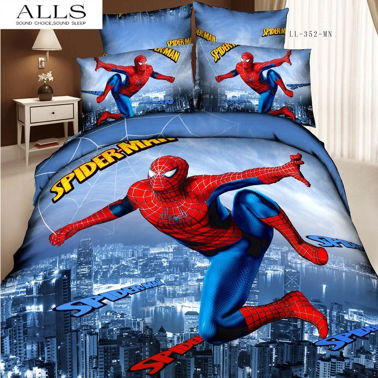 spiderman bedding set 3d oil painting 100 cotton cartoon children girl boy bed set bed