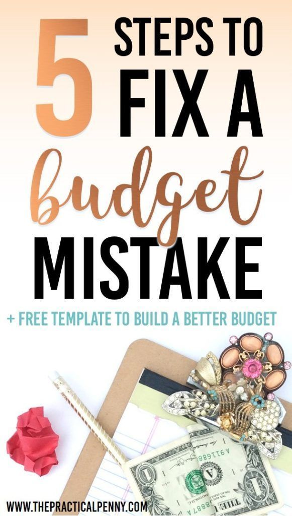 5 Tricks to get back on budget | The Practical Penny | Budgeting is hard, and you will probably make mistakes. These 5 tricks will help you get back on budget even when you slip up. #Budget #Ramsey #oops