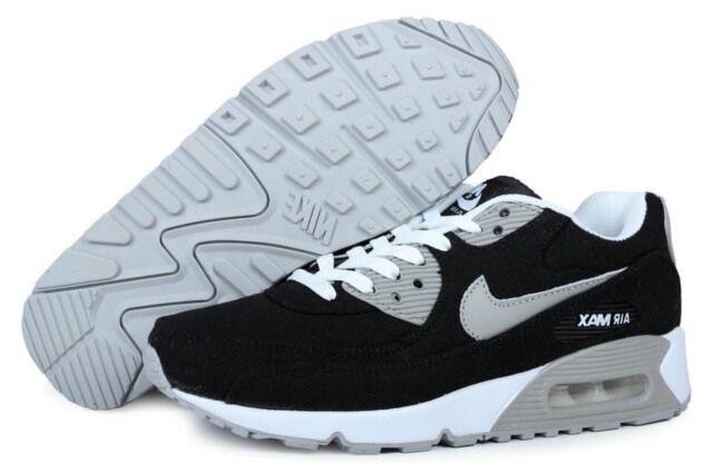 En Ligne Nike Air Max 90 Chaussures De Sport Pour Les Homme Gris Noir Belle  de