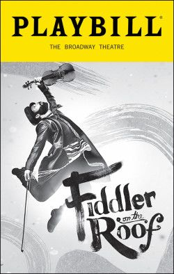 Fiddler on the Roof at The Broadway Theatre. July 2016.