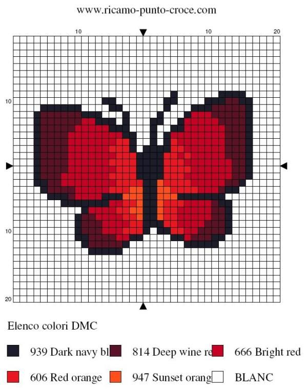 red butterfly cross stitch