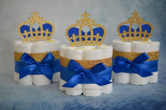 Royal Prince Diaper Cake/ Little Prince Baby shower/ prince baby shower/ royal…