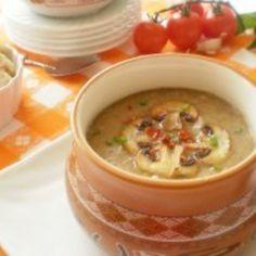 Supa crema de ciuperci cu legume si usturoi