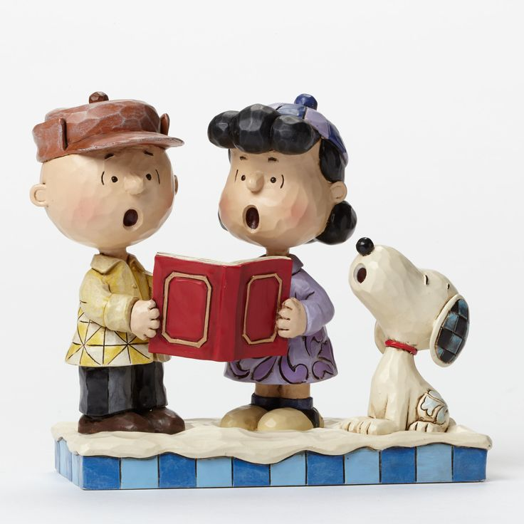 Charlie Brown, Lucy and Snoopy Caroling-Jim Shore